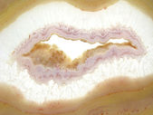 Round agate mineral geode crystal — Stock Photo