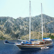 Stock Photo: Yacht in aegesea