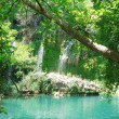 Stock Photo: Waterfall out of grotto cascade kursunlu turkey