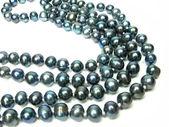 Black pearl beads — Stock Photo