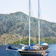 Stock Photo: Large yacht in aegesecruise