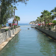 River canal in sea resort — Stock Photo