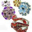 Stock Photo: Jewelry rings set with bright crystals