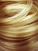 Ciemny blond włosy tekstura tło — Zdjęcie stockowe