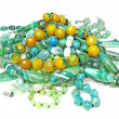 Heap of green semigem beads - Foto Stock