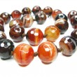 Semiprecious sardonyx beads — Stock Photo