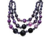 Ametist semoprecious kristaller pärlor — Stockfoto