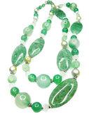 Gröna ljusa semigem pärlor — Stockfoto