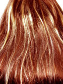 Gingery highlight hair texture background — Stock Photo