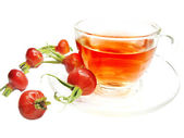 Fruit tea with wild rose hip extract — 图库照片