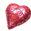 Стоковое фото: Pink spscented candle heart shape