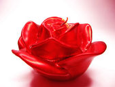 Red rose scented aroma candle — Stock Photo