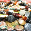 Heap of semiprecious beads — Stock Photo