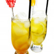Fruit cold juice drinks with lemon — Stock Photo #9967918