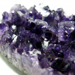 Amethyst semigem crystals geode — Stock Photo #9968278