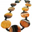 Agate semiprecious mineral beads - Stock Photo