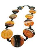 Agate semiprecious mineral beads — Stock Photo