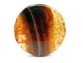 Red agate semigem mineral crystal — Stock Photo