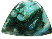 Chryzokola semigem kryształu mineralnego — Zdjęcie stockowe