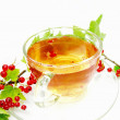 Fruit red tewith currant extract — Stockfoto #9983712