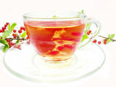 Red fruit tea with currant extract — Stock Photo