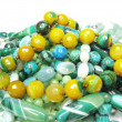 Heap of green beads - Stock Photo