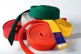 Karate bälten — Stockfoto