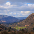 Stock Photo: View from moutains above ambleside