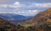 View from moutains above ambleside — Stock Photo