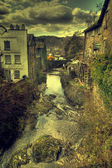 View down a river in ambleside — Stock Photo