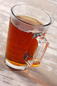 Single glass of warm drink — Stock Photo