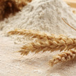 Flour on table — Stock Photo