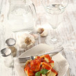Ravioli on table — Stock Photo