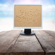 monitor en last minute — Stockfoto