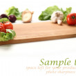 Vegetables background and white space - Stock Photo