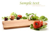 Vegetables background and white space — Stock fotografie