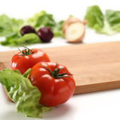 Vegetables background and white space — Stockfoto
