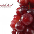 Wet fruits on white — Stock Photo