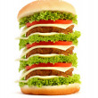 Hamburger on white background — Stock Photo