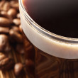 Coffee in sun lights — Stock Photo