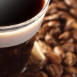 Stock Photo: Coffee in small glass