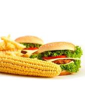 Food on background — Stock Photo