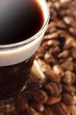 Café em copo pequeno — Foto Stock