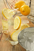 Cold water in glass — Stock Photo