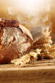 Chléb na stůl — Stock fotografie