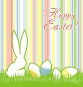 Easter greeting card with lines — Stock Vector