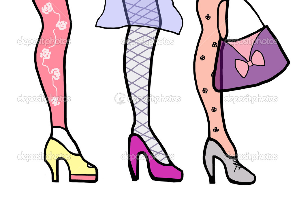 Variations of fashion womens feet. — Stock Photo #9679472