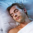 Young Man Sleeping In His Bed — Stock Photo #10604961