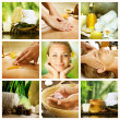 collage de spa. concepto Dayspa — Foto de Stock