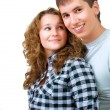 Healthy Young Couple Portrait — Stockfoto